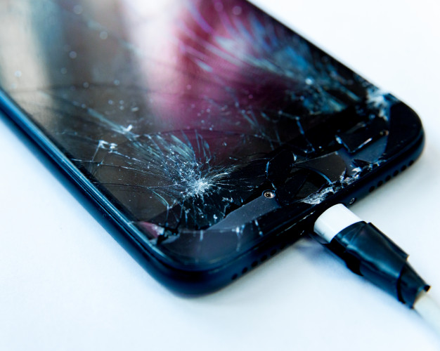 Cracked Touch Screen